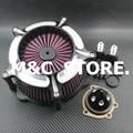 Ofertas especiais Motocicleta CNC Artesanato Air Filter Cleaner Intake Para Harley XL 883 1200 Sportster 2004-2015 Anos