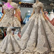 AIJINGYU فستان الزفاف المغربي فساتين زفاف مخازن كم الخطوبة الدانتيل ثوب الزفاف فساتين طويلة