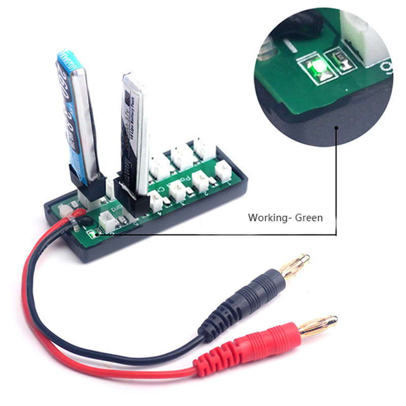 1S 3.7V Lipo Battery Balanced Charging Adapter Board For IMAX B6 Charger RC Helicopter Spare Parts Accessories Accs Part lipo battery 7 4v 2500mah for mjx f45 f645 t23 rc parts helicopter battery can add 3in1 charger f45 22 extra spare toys