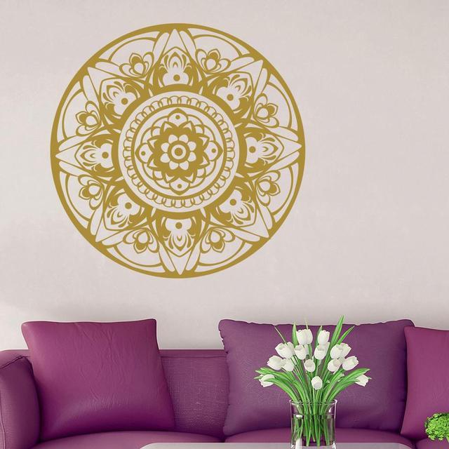 The Sitting Room Painting Decoration Mandala Wall Decor Yoga Sticker Om Vinyl Decals Boho Bohemian Pattern