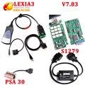 Lexia 3 Herramienta de Diagnóstico Lexia3 Con NEC Relés Serie 921815C Diagbox 7.83 Lexia 3 PP2000 $ number PSA 30 pin + S1279 cable del envío de DHL