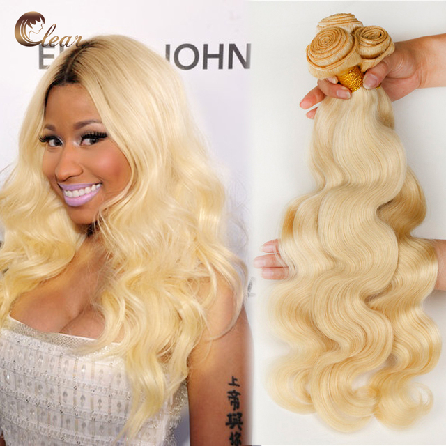 Russia Honey Blonde Virgin Body Wave Hair Extensions 3pcs 7a 613