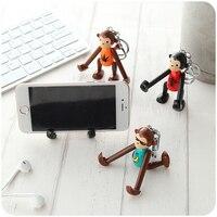 New Cute Keychains Monkey Doll Pendants Key Chains Cell Phone Holder Kawaii Bag Charm Girls Present
