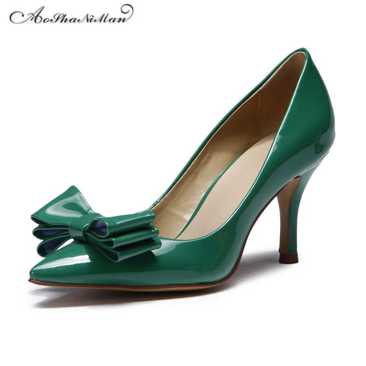 Newest spring women shoes top quality genuine leather high heels Fashion 2017 ladies pumps for party dress shoes 34-41 newest summer style woman pumps shoes high quality ladies high heels basic shoes for party free shipping size 37 43