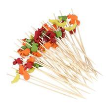 200 шт цветные одноразовые палочки для коктейлей, креативные бамбуковые зубочистки, вечерние принадлежности