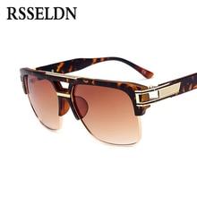 RSSELDN Fashion Half Metal Frame Men Sunglasses Classic Retro Vintage Sun glasses Women Brand Designer Women Sunglasses UV400