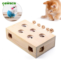 Wood Cat Hit Gophers toys Interactive Catch Mouse Game Funny Platform Tease Cat Toys Cat Pet Supplies