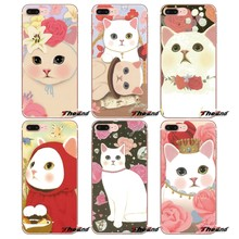 For Huawei P Smart Y6 Ascend P8 P9 P10 Plus Nova P20 Lite Pro Mini 2017 jetoy cat Transparent Soft Shell Covers(China)