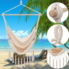 Ins Nordic Style Outdoor Indoor Garden Dormitory Bedroom Hanging Chair For Child Adult Single Safety Hammock(China)