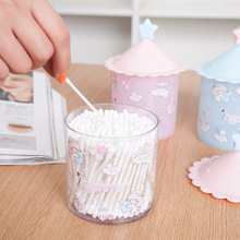 Cute lovely design cotton swab box cotton bud holder toothpick holder room decorate jewelry box household organizer