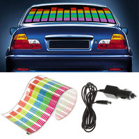 Auto Sticker Muziek Rhythm LED Flitslicht Lamp Equalizer Auto Licht Accessoires Auto Styling
