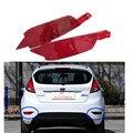 Автомобиль КРАСНЫЙ Хвост Заднего бампера отражатель лампы стоп-сигнал задние противотуманные фары для Ford Fiesta 2009-2014 Хэтчбек