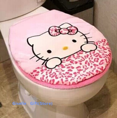 Kawaii Leopard Hello Kitty Bano Sanitario Sentado Toilet Seat Estera