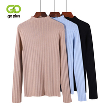 GOPLUS Women Fashion Sweater 2019 New Autumn Winter Turtleneck Tops Knitted Pullovers Long Sleeve Sweaters Female Clothing