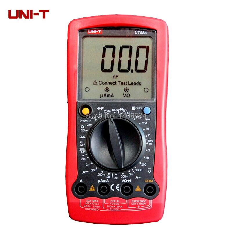Ac Dc Digital Voltmeter Kit : Uni t ut a lcd digital multimeter ac dc voltmeter amp ohm