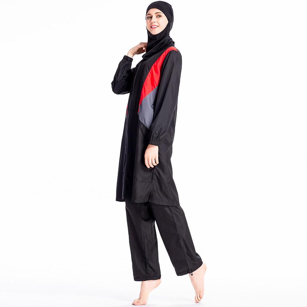 Modesty Burkinis Muslim Women Swimwear Hijab Swimsuit Full Cover Islamic Beachwear Plus Size