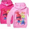 Trolls Camisas Primavera crianças da Camisola dos miúdos meninos Meninas t camisa de algodão para a criança da roupa do bebê Meninas vestuário vestuário SAILEROAD