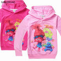 Trolls Shirts Spring cotton children Sweatshirt kids Girls boys t shirt for child baby clothing Girls garment clothing SAILEROAD