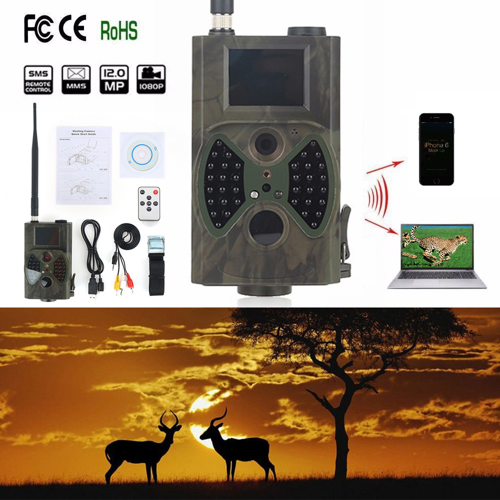 Skatolly HC300m Digital Scouting infrared Hunting Camera 12p Video MMS GPRS GPS Night Vision Trap Game Wildlife hunter Trail Cam hc 500m gprs mms hunting camera email notification scouting digital infrared trail camera 12mp hd 2 0 lcd video cameras