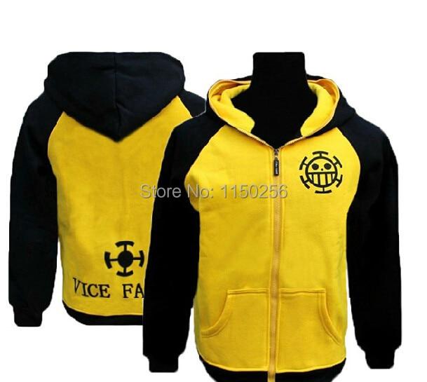 Anime One Piece Cosplay Costume Trafalgar Law Hoodies Jacket Coat M-XXL Size Cotton Blende Free Shipping+Drop Shipping New