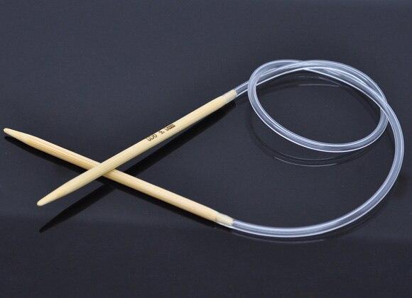 1 Pair Bamboo 40cm Circular Knitting Needle( US Size 6/ 4.0mm)