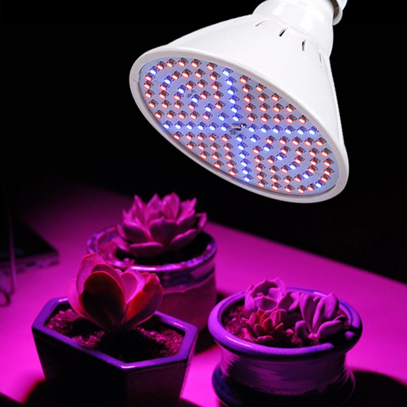 126 Led Grow Light Lamp Bulb Flexible Desk Clip Holder Indoor Plants Flowers 85-265v Big Clearance Sale