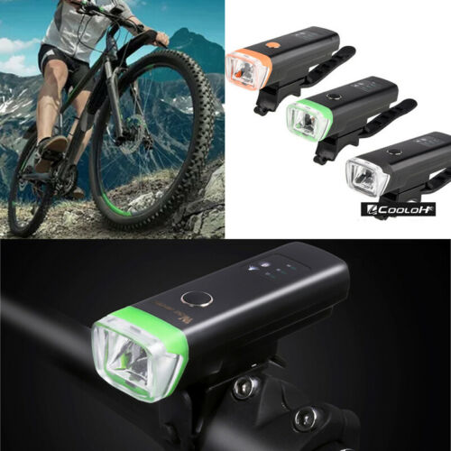 USB Rechargeable Cycling Bicycle Bike LED Head Front Rear Light Lamp Interaction