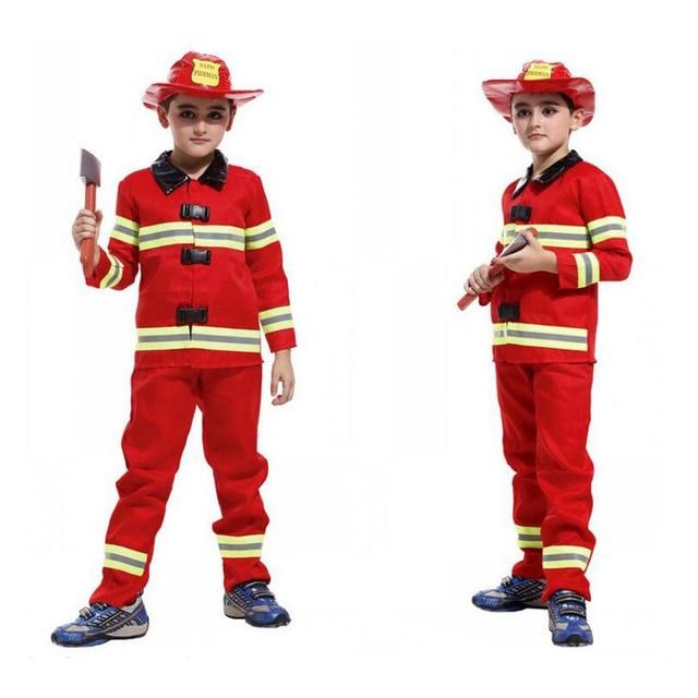 Kinder Feuerwehrmann Uniform Jungen Feuerwehrmann Kostüm ...