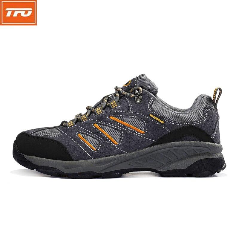 12b39c080d TFO Caminhadas Sapatos das mulheres Dos Homens Respirável Tênis Masculino  Anti Escorregadio Sapatos Cinza Azul À Prova D  Água Esportes Ao Ar Livre  Calçados ...