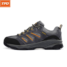 TFO Hiking Shoes Men women Breathable Sneakers Male Anti-Slippery Waterproof Sports Outdoor Shoes Gray Blue Footwear