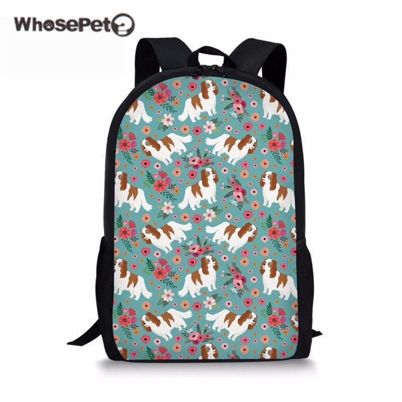 WHOSEPET Дети школьный Повседневное рюкзак для детей мальчиков и девочек кавалер Кинг подросток Школа Rugzak летняя Книга сумка Для женщин ...