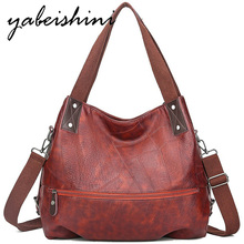 YABEISHINI women leather handbags shoulder bag luxury bags sac a main bandouliere femme tote Large capacity brown hand