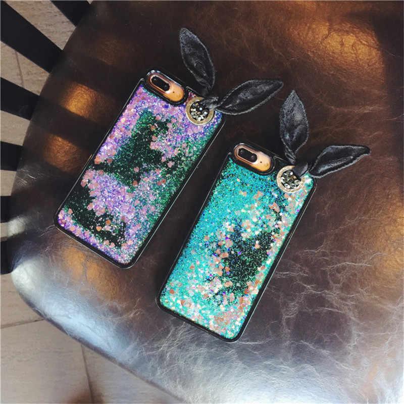 のための iphone 6 6s 7 8 プラス X XS 最大 XR 高級独占電話ケースソフト Glitter 砂液体流砂カバー