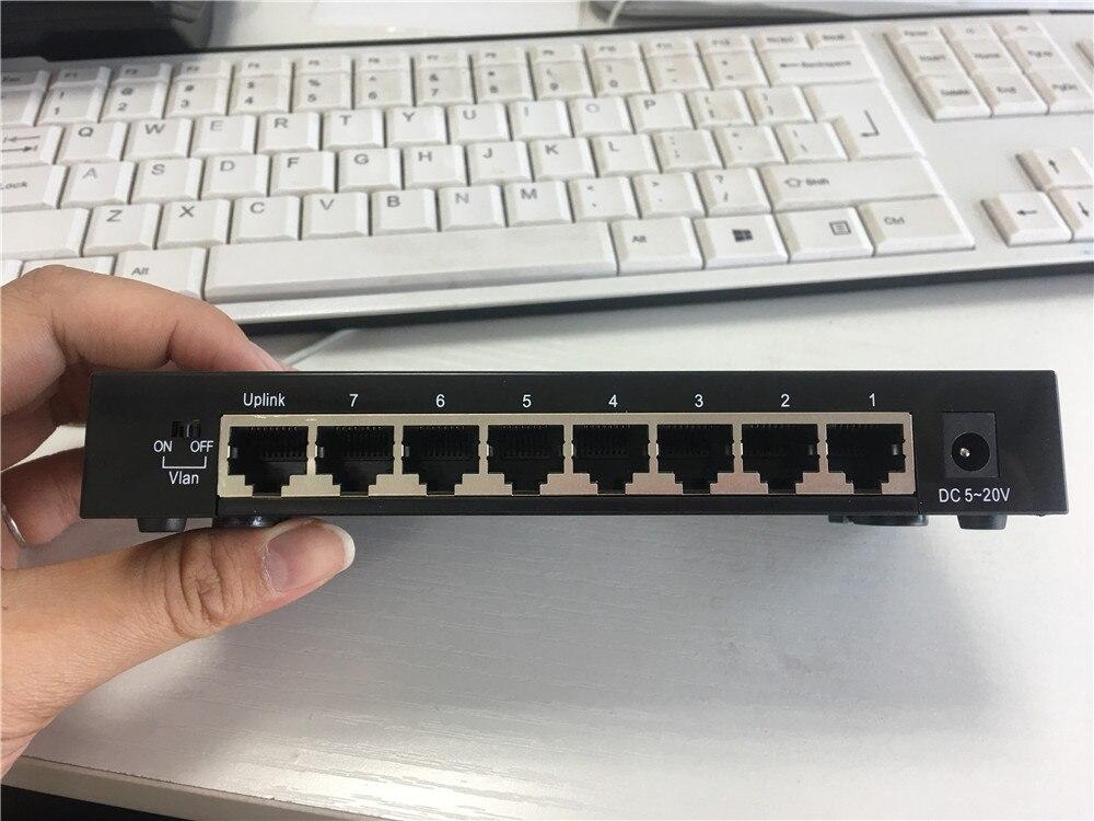 KuWFi 8Port Gigabit Switch Ethernet Smart Switcher High Performance1000Mbps Ethernet Network Switch RJ45 Hub Internet Splitter
