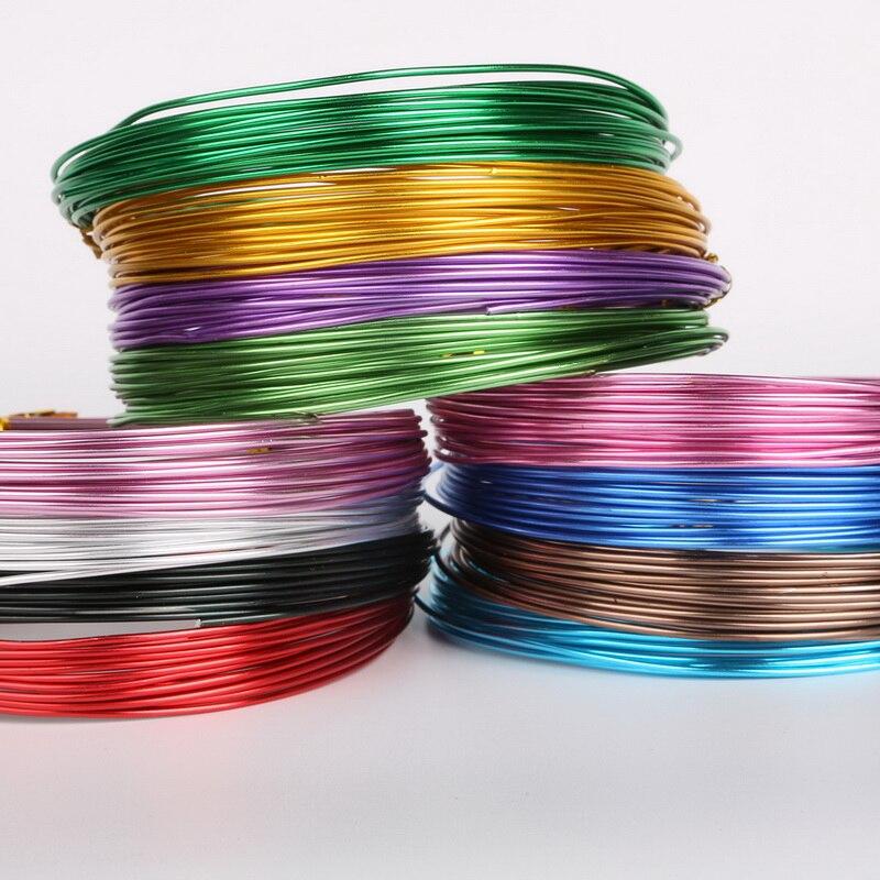 Farbig eloxierte aluminium draht schmuck handwerk weichen 2,5mm 10 ...
