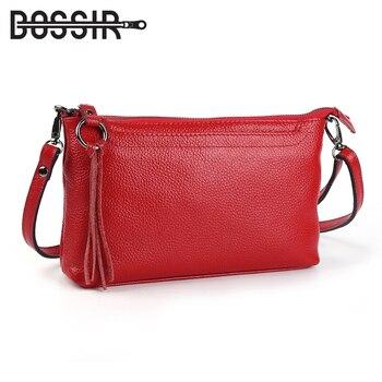 Кожа натуральная кожа Для женщин Курьерские сумки кисточкой сумка женская мода сумки на плечо для Для женщин клатч маленький Сумки