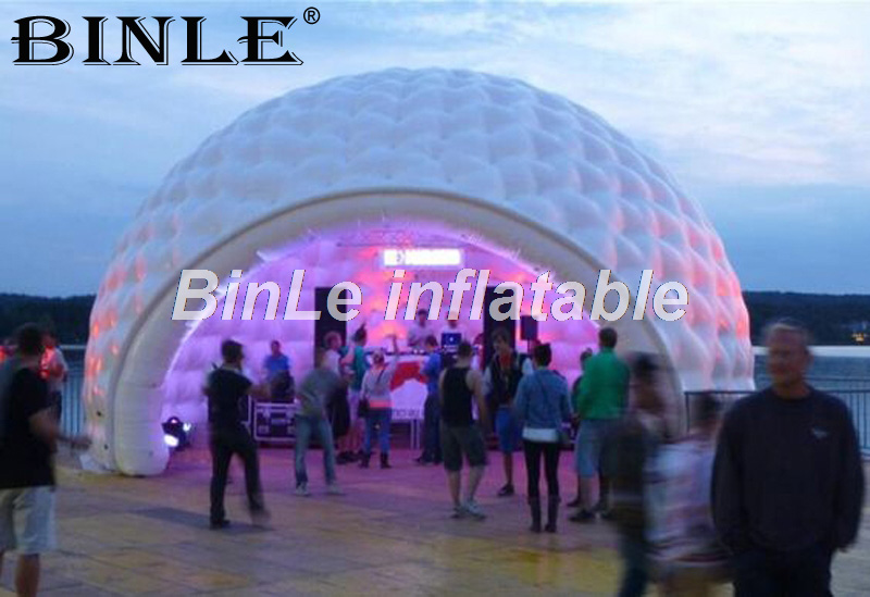все цены на Attractive 8m giant igloo dome inflatable tent with led and blower for outdoor parties or events