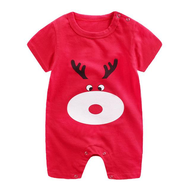 0 12M Age New Born Baby Girl Boy Clothes Romper Cotton Toddlers Infant Unisex Short Sleeve Playsuit Jumpsuit for Newborns in Rompers from Mother Kids