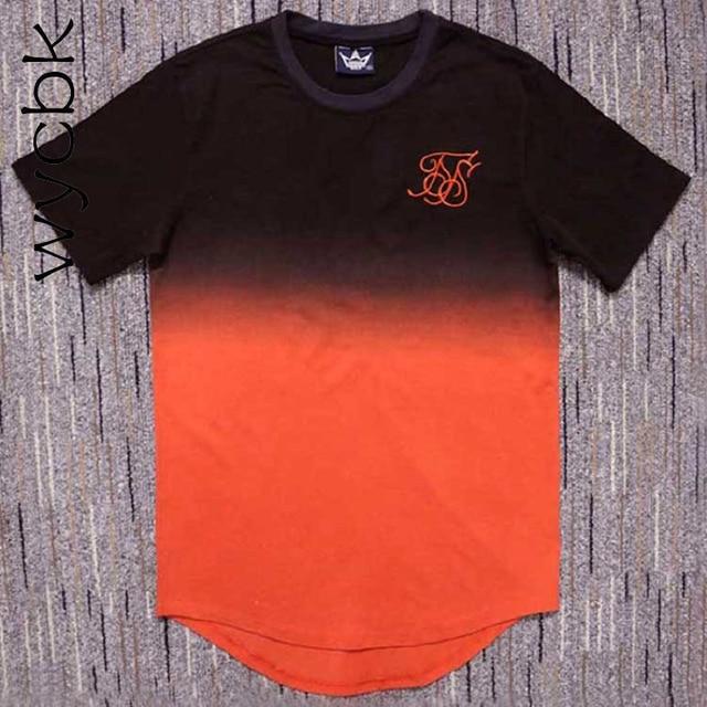 Estate di Modo wycbk Arancione T-Shirt In Cotone Swag magliette skateboard T  shirt solid Hip Hop T shirt uomo Tees top 05499daa05af