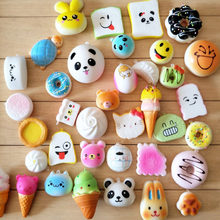 30pcs DIY Cute Mini Kawaii Kawaii Squishy Jumbo Panda Bun Slow Rising Squishy Cute Bear Mini Bread/Cake/ice Cream Phone Strap(China)
