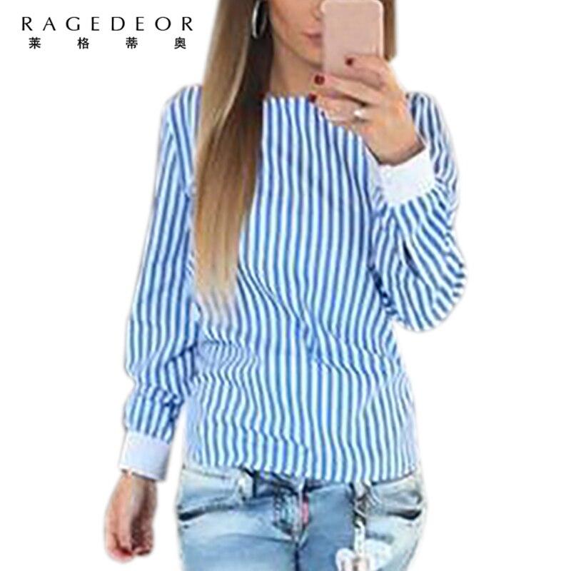 Las mujeres Atractivas Del Bowknot Sin Respaldo Blusas A Rayas Camisas de Color