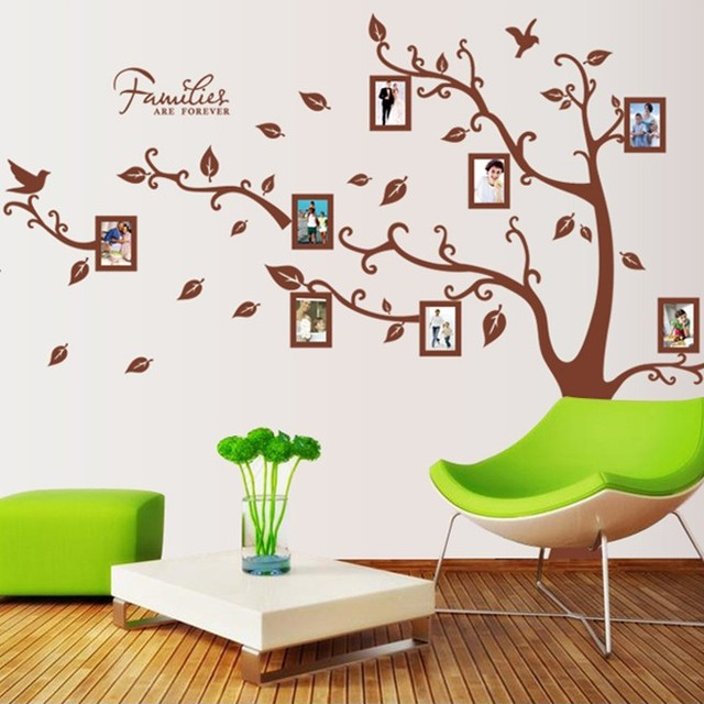 Photo Frame Photo Trees Living Room TV Setting Decorative Decal Since The  Glue Can Be Removed Part 79