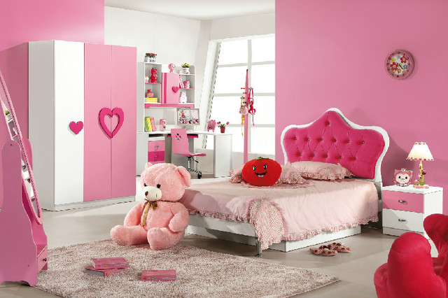 Childrenu0027s furniture suite family of four combination storage beds 12 m 15 m children girl princess & Childrenu0027s furniture suite family of four combination storage beds ...