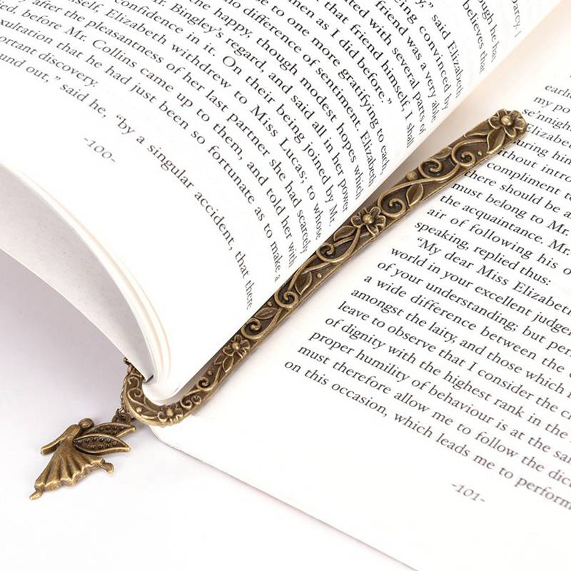 2018 New Fashion Retro Alloy Bookmarks Fairy Pattern Pendant Bookmark Stationery Book Accessories
