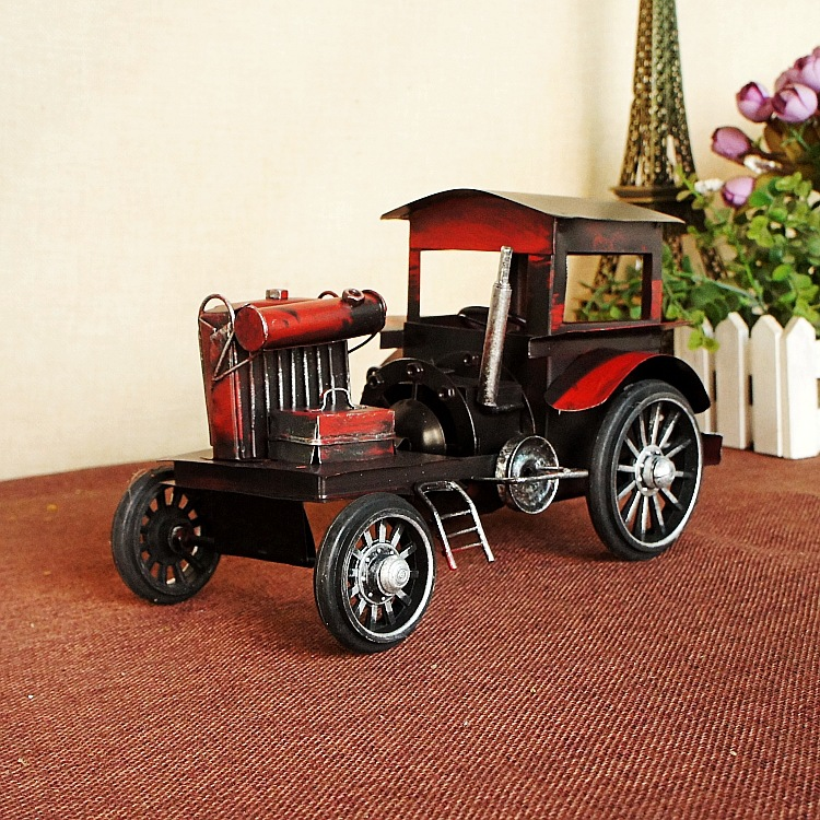 8269 Red Iron Car Model Old Style Restoring Ancient Ways Nostalgic ...