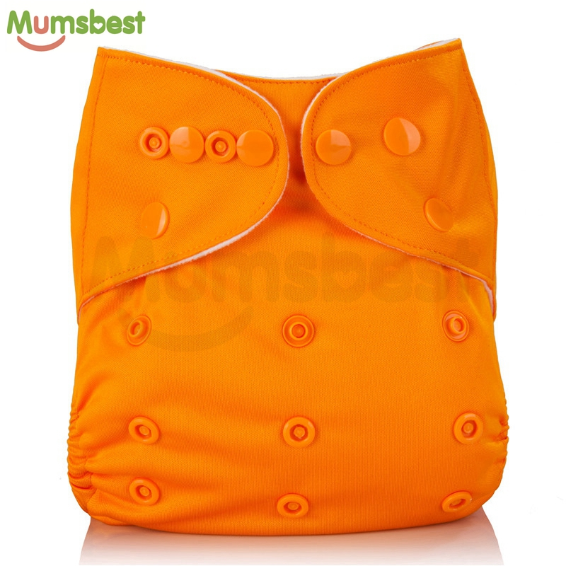 Mumsbest 10Pcs Baby Cloth Diaper washable Solid Color Baby Nappy One Size Adjustable Many Colors