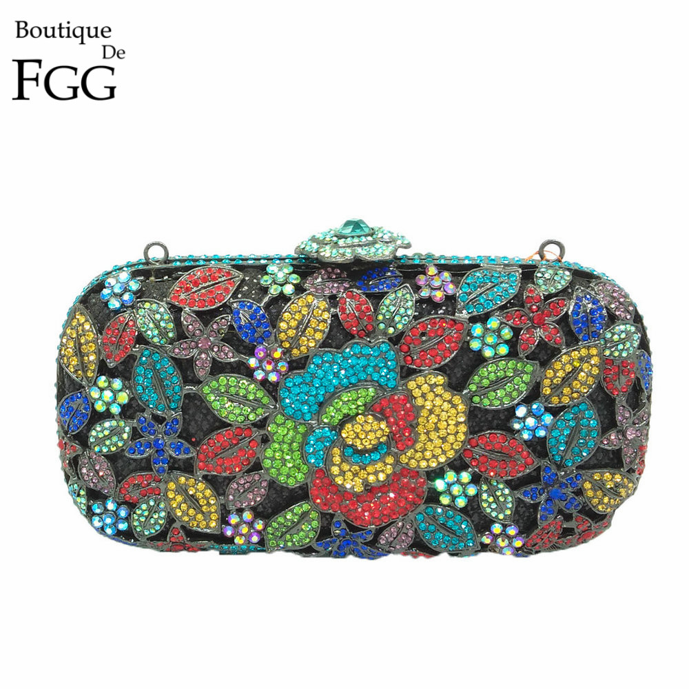 ФОТО Metal Floral Appliques Women Hardcase Silver Crystal Evening Hollow Out Clutch Purse Wedding Party Banquet Handbags Clutches Bag