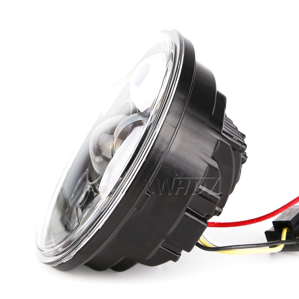 New 5.75 5-34 Inch Projector Round LED Headlight DRL for Harley Davidson Motorcycles (9)