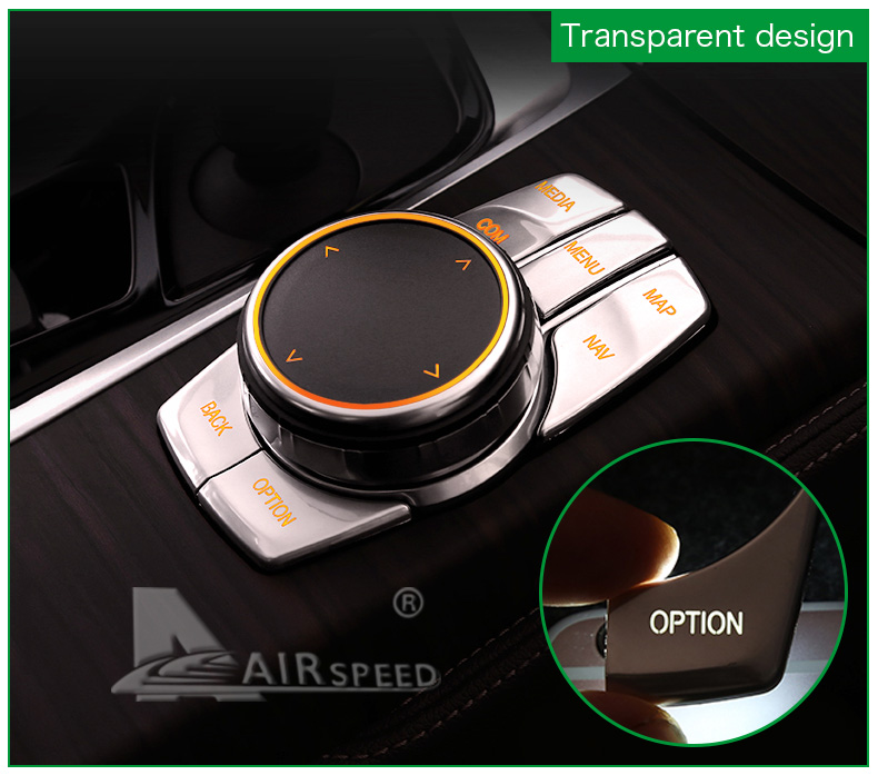 Airspeed for BMW 5 Series G30 528i 530i 540i Accessories Car Multimedia Buttons Cover ABS Interior Decoration Car Styling (11)