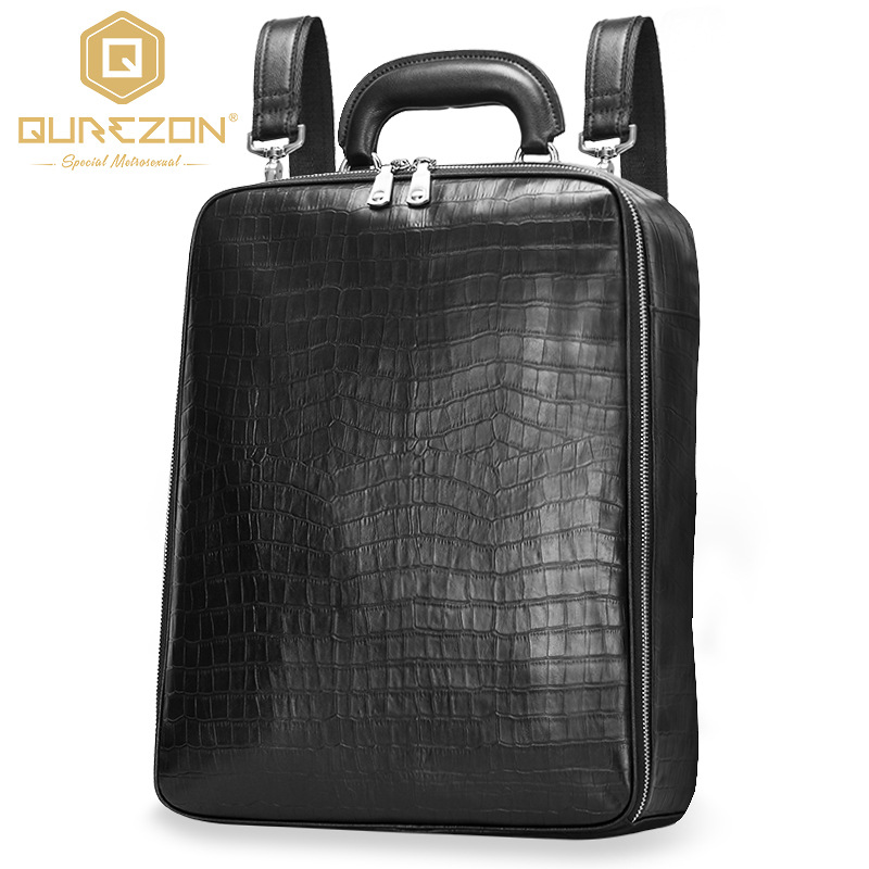 Hot 2017 Brand Laptop Business Genuine Leather Backpack Men